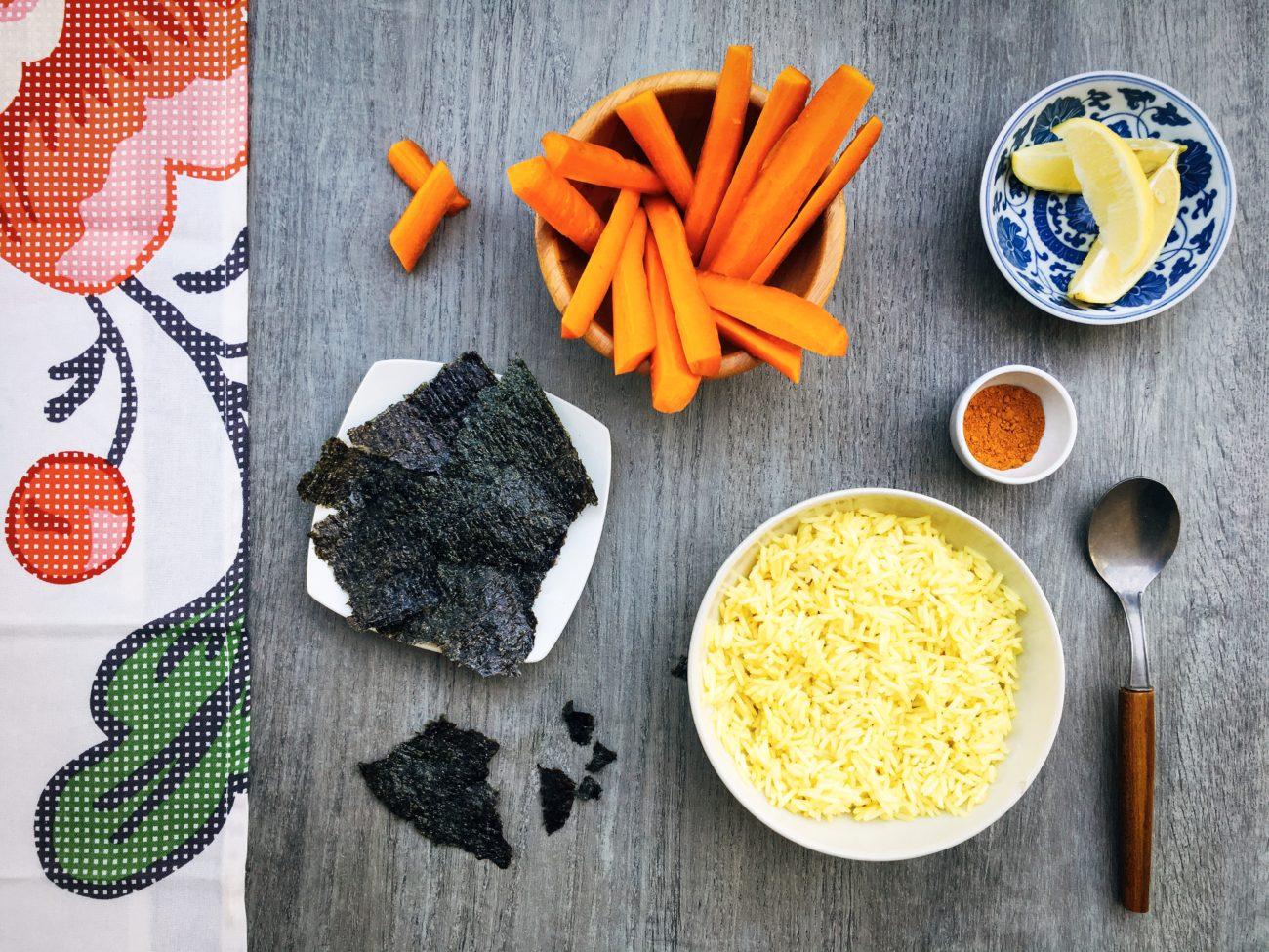 Riso basmati, alghe nori e carote… per quando non si sta bene