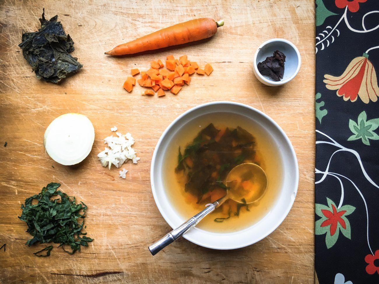 Zuppa di miso d'autunno