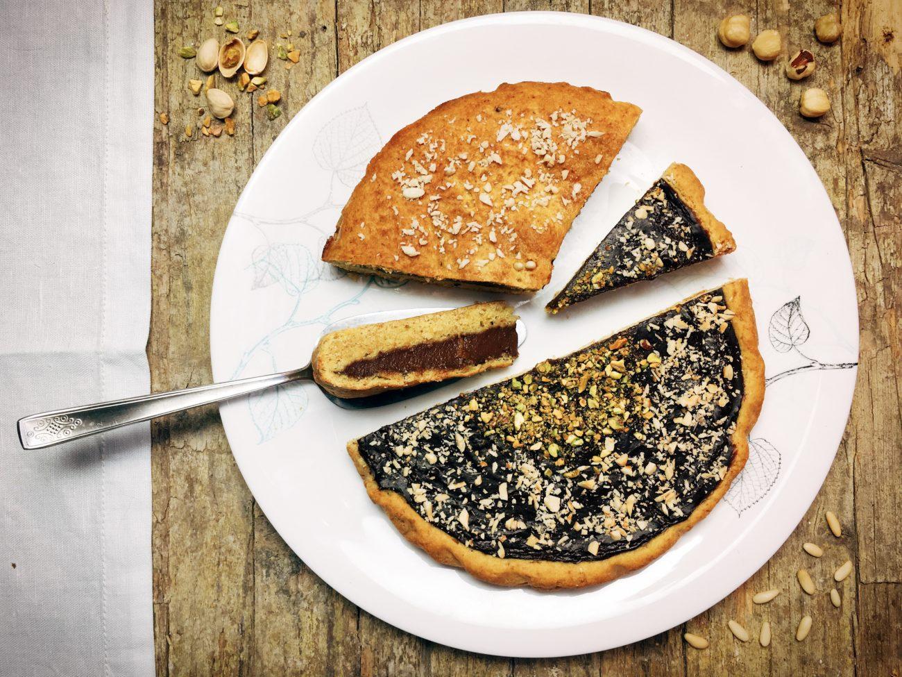 Crostata con crema di cacao